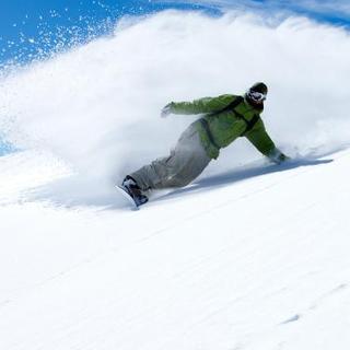 Riding A Snowboard