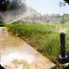 Sprinkler On Pavement